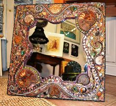 SOLD - Bespoke commissions welcome, size, shape and colour to suit you décor, please contact me for more details.  Mosaic Ammonite, shell &