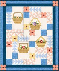 Flower Basket Quilt BOM