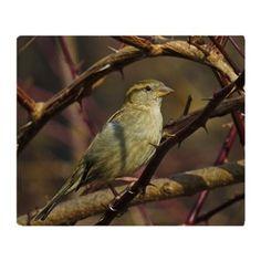 Sparrow Throw Blanket on CafePress.com
