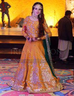 Ideas For Bridal Lehenga Pakistani Mehndi Pakistani Mehndi Dress, Bridal Mehndi Dresses, Walima Dress, Pakistani Wedding Outfits, Pakistani Couture, Pakistani Wedding Dresses, Bridal Lehenga, Indian Designer Outfits, Sweet Dress