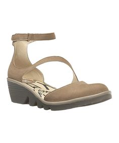 Take a look at this Taupe & Mushroom Plan Leather Pump today!