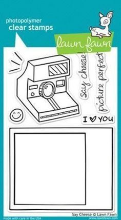 Lawn Fawn - Clear Stamps - Say Cheese LF322 (Discontinued)