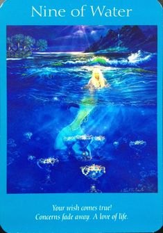 "(2014-05-04) Angel tarot cards by Doreen Virtue, Nine of water (Nine of cups): ""Love of life."""