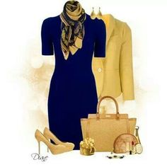 Love the contrast of blue and yellow