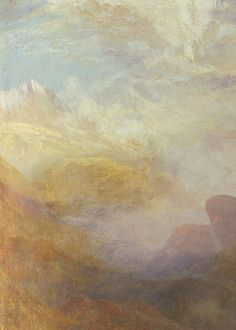 J. M. W. Turner, Ulysses deriding Polyphemus: Homer's Odyssey (detail), 1829. The significance of light was to Turner the emanation of God's spirit and this was why he refined the subject matter of his later paintings by leaving out solid objects and detail, concentrating on the play of light on water, the radiance of skies and fires.