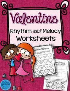 50% off for the first 24 hours!   This set of 42 Valentine-themed worksheets includes everything you need for the Valentine season!   Notation is included for the following songs needed for this file:  1. Big Bunch of Roses 2. Heel, Toe, on the Line 3.
