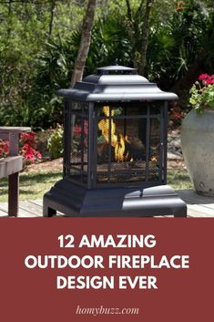 12 Amazing Outdoor Fireplace Design Ever - HomyBuzz