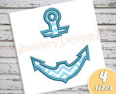 Anchor Split Applique Design  4 sizes  Machine Embroidery