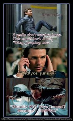 'Mission Impossible: Ghost Protocol. Brandt.....;-)'