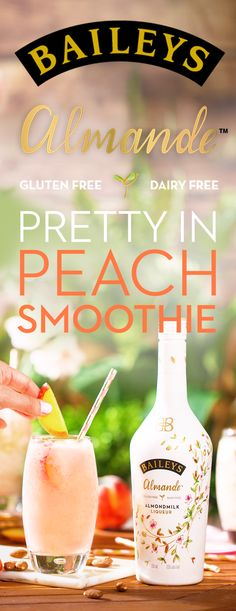 Outdoor hosting season is here - and we're more than ready! Whether it's a summer BBQ, picnic, or dinner party, this light-tasting almondmilk liqueur is the perfect dairy free, gluten free, and vegan treat! First up on the menu? Peach Smoothies! To make 4 cocktails, blend 8 oz. Baileys Almande, 2 cups Ice, 2 cups Peaches, and 2 tsp. Vanilla. Top off this delicious drink with sliced peaches and almonds!