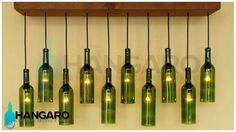 Diy Decoracion Negocio 26 Ideas For 2019 Lighted Wine Bottles, Glass Bottles, Beer Bottle Chandelier, Upcycle Home, Woodworking Items That Sell, Wine Shelves, Bottle Cap Crafts, Vintage Bar, Diy Home Crafts