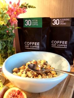 www.coffeenotcoffee.com.au Detox Green Coffee and Slimming Hot Cacao All natural organic ingredients Aids weightloss, suppresses appetite, boosts metabolism, detoxes and more! FREE healthy eating guide and exercise guide
