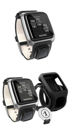 518704561f Rangefinders and Scopes 111289: New Tomtom Golfer Premium Edition Golf Gps  Watch - Black Leather Strap BUY IT NOW ONLY: $149.95. Watches and Stuff