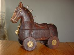 vintage trojan horse wooden - Google Search