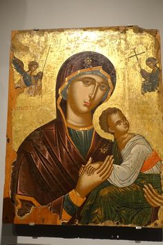 Greek Orthodox icon in gold, Benaki Museum Athes