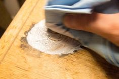 Removing Black Stains in Wood Furniture With Oxalic Acid: 6 Steps (with Pictures) Water Stain On Wood, Dark Wood Stain, Oxalic Acid, Wood Refinishing, Acid Stain, Floor Stain, Wood Steps, Water Stains, Black Stains