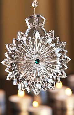 Waterford 2012 Snowflake Wishes for Courage Ornament, Emerald Green Jewels - Crystal Classics