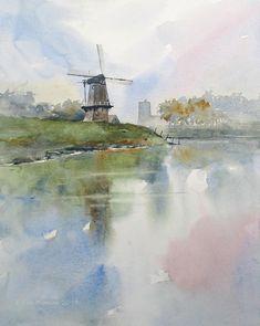 Thomas W. Schaller #watercolor jd