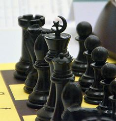 World youth chess tourney in the UAE - note the islamic chess pieces