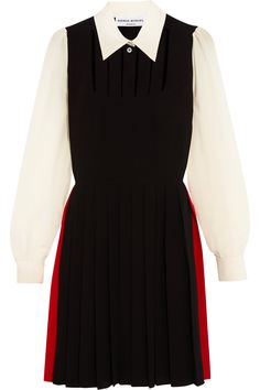 SONIA RYKIEL Pleated Cutout Silk Crepe De Chine Dress. #soniarykiel #cloth #dress
