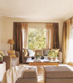 cortinas para la sala y comedor
