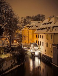 Kampa park in winter, Prague. I had lunch here one of the last days in Prague 4k Photography, Prague Photography, Visit Prague, Prague Travel, Prague Czech Republic, Heart Of Europe, Exotic Places, Jolie Photo, Most Beautiful Cities