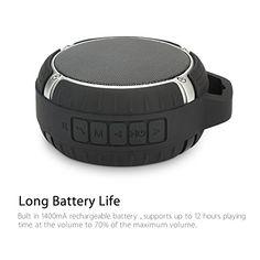 La durabilidad y portabilidad   Utiliza material de goma que disminuirá el impacto de golpes y caídas. Usted puede ponerlo en su bolso o en su equipaje con total facilidad.   Batería más duradera   Extra-larga batería incorporada de 1400 mAh que le permite reproducir música hasta 7 horas. Esta un... http://altavocespara.com/bluetooth/ducha/1byone-altavoz-bluetooth-4-0-de-deportes-y-ducha-al-aire-libre-altavoz-portatil-impermeable-inalambrica-con-contrabajo-fuerte-color-