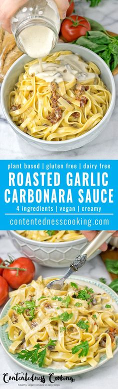 Roasted Garlic Carbonara Sauce