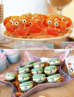 Little Mermaid Party: Under the Sea Adventure! Gummy crabs and pearl macaroons