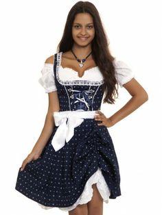 8feac5a10ec090 Dirndl Dolly G (dunkelblau) - MarJo Dirndl Dunkelblau, Trachten Fashion,  Traditionelle Kleidung