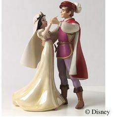 Cute fairy tale wedding cake topper!