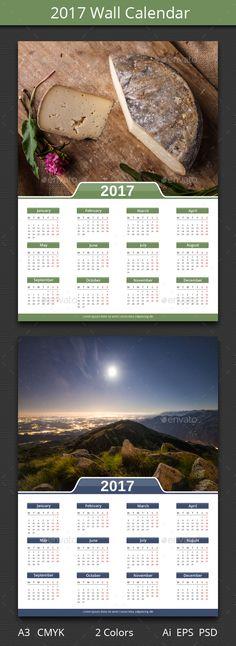 Wall Calendar Template Printable Photo A A Pdf Calendar