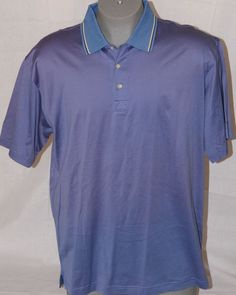 Vtg Greg Norman BellSouth Classic Polished Cotton Polo Shirt Men's size Large #GregNorman #PoloRugby #Golfshirt #Mensclothing #Large