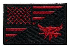 Patch Squad Men's USA Flag / Tactical SWAT Eagle Split Patch