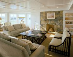 Beach Cottage - Home Bunch - An Interior Design & Luxury Homes Blog. Ceiling could work in our cabin.