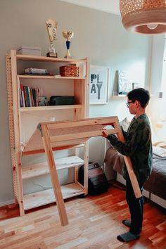 składane biurko Ikea Nursery, Kura Bed, Ikea Furniture, Ikea Hack, Teak, Home Decor, Decoration Home, Room Decor, Interior Decorating