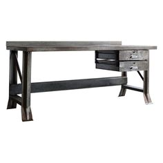 Large Vintage Industrial Workbench by Pressweld, 1940s  $1,600
