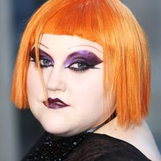 Beth Ditto in her usual glammed and up self Lady Gaga Music, Makeup Art, Hair Makeup, Beth Ditto, Grunge, Badass Women, Wedding Hair And Makeup, Models, Hair