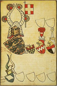 The Danish arms in the Gelre Armorial, century. This is the oldest coloured image of the Dannebrog. The crest was used by Danish monarchs from the century until c. The flag is not part of the crest. Family Shield, Medieval Paintings, Nautical Flags, Dramatic Arts, Family Crest, Medieval Art, Crests, 14th Century, Coat Of Arms