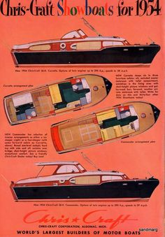 chris craft - 1954
