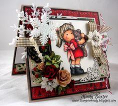 Magnolia stamps Christmas card - Tilda - Teddy Bear Love