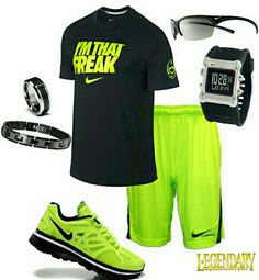 Men's fashion neon nike outfit