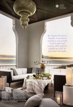 """""""Her palette might as well be fog and starlight.""""  ...Interior designer Susan Ferrier"""