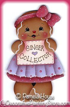 "LAMINATED FRIDGE MAGNET Gingerbread ""Ginger Collector"""