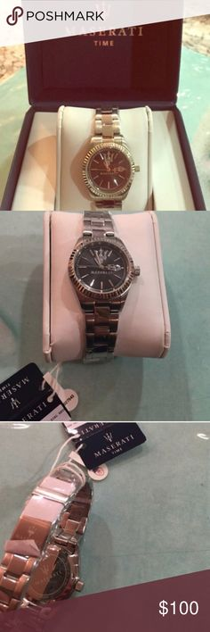 UNISEX Maserati Watch UNISEX Brand new with tags! Never worn! Comes with box! Just needs a new battery, you are able to get a battery for $0-$15 at jewelery stores!...Price is negotiateable ! Maserati Accessories Watches