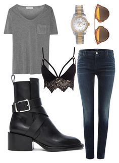 """Untitled #42"" by lil-kama on Polyvore featuring T By Alexander Wang, Club L, Armani Jeans, Rolex, Christian Dior and Jil Sander"