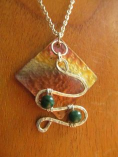 Hey, I found this really awesome Etsy listing at https://www.etsy.com/listing/183702921/soldhammered-copper-silver-pendantcopper