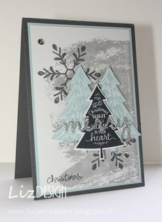 LizDesign Stampin Up Peaceful Pines Christmas Card