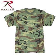 Rothco Woodland Camo T-Shirt with Pocket