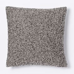 Heathered Boucle Pillow Cover - Platinum | west elm